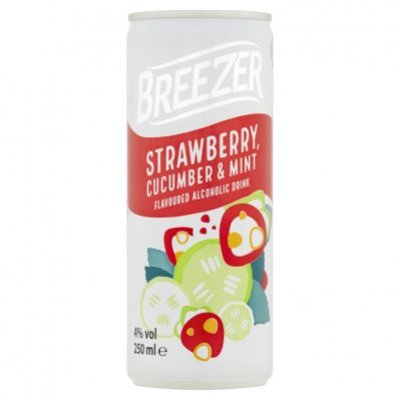 Bacardi Breezer strawberry cucumber mint