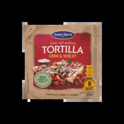 Tortilla Corn & Wheat Medium (8-Pack)