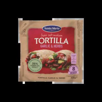 Tortilla Garlic & Herbs Medium (8-Pack)