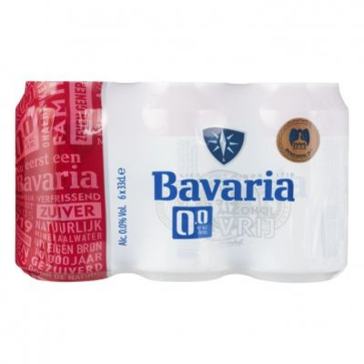 Bavaria 0.0% alcoholvrij bier 6-pack blik