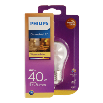 Philips LED warmglow kogel 40W E27 mat