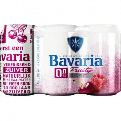 Bavaria 0.0% alcoholvrij fruity rose bier 6-pack