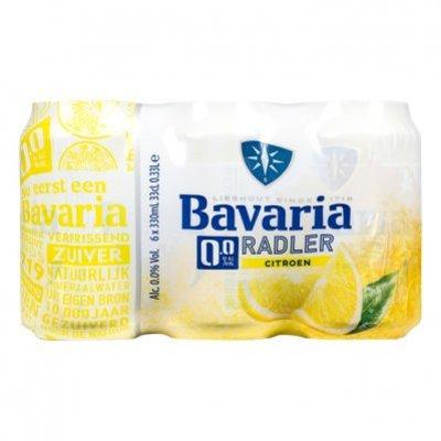 Bavaria 0.0% alcoholvrij radler citroen 6-pack