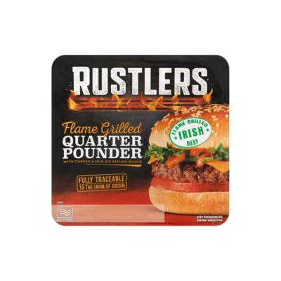 Rustlers Flame Grilled Quarter Pounder