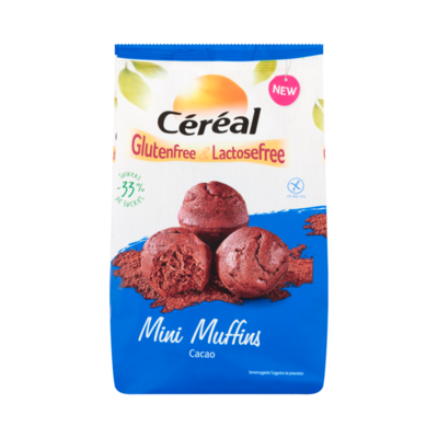 Céréal Glutenfree & Lactosefree Mini Muffins Cacao
