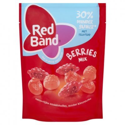 Red Band Berries mix 30% minder suiker