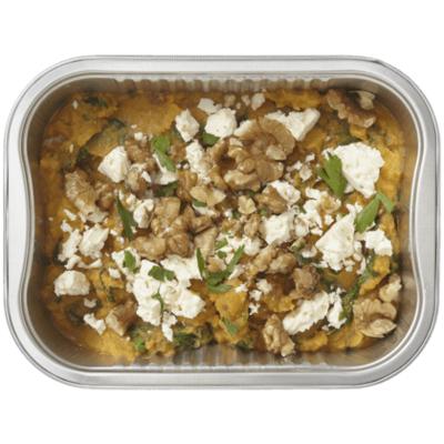 Huismerk Zoete aardappelstamppot met spinazie