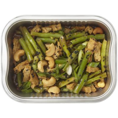 Huismerk Roergebakken tofu met boontjes