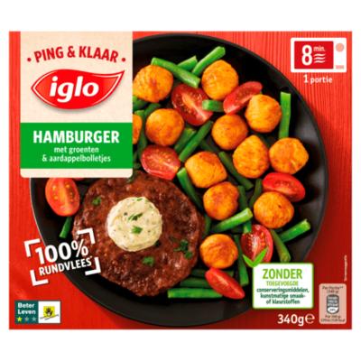 Iglo Ping&Klaar Hamburger met groenten