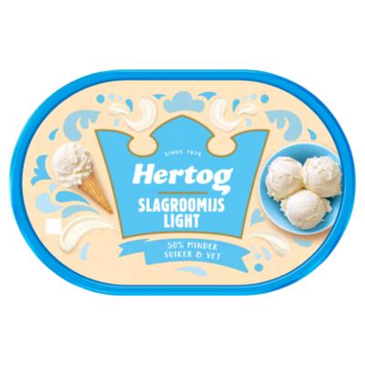 Hertog Slagroomijs light