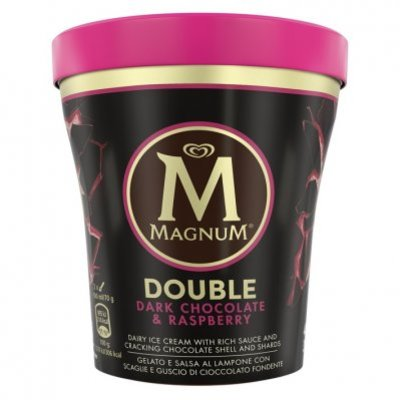 Magnum Pint double dark chocolate and raspberry