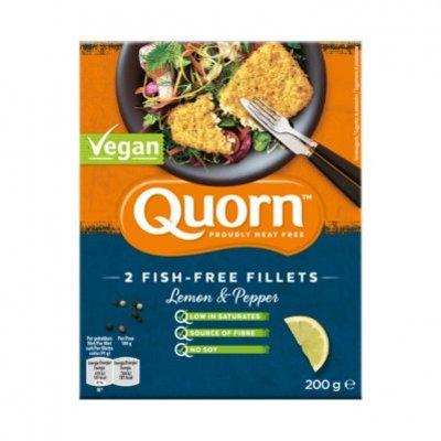 Quorn 2 fish free fillets lemon pepper