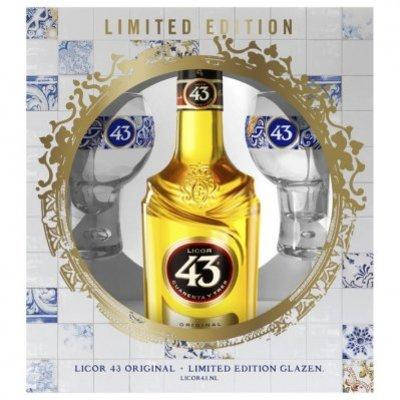 Licor 43 Original met 2 limited edition glazen
